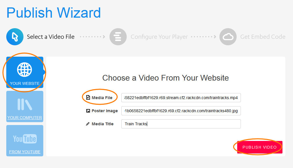 JW Player: Upload Video from Your Website